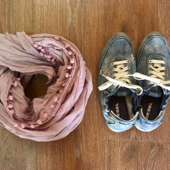 Diesel sneakers, pink scurf