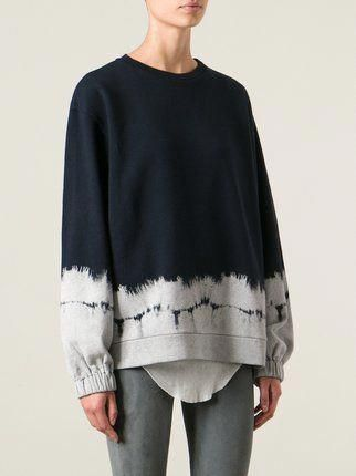 Stella McCartney Midnight Blue Tie-Dye Crewneck Jumper